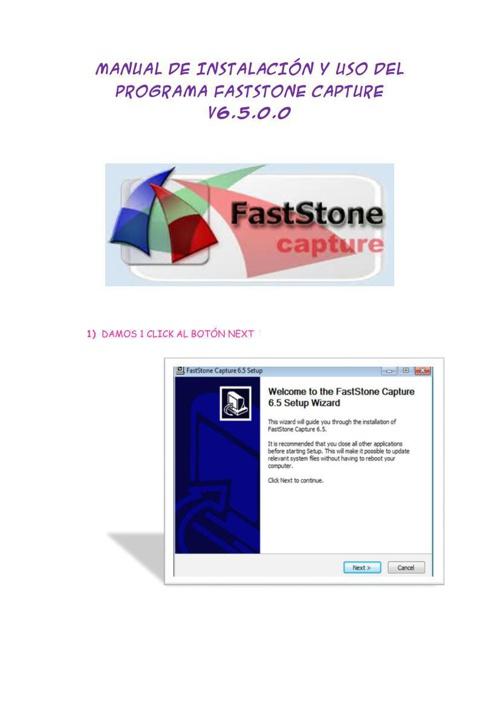 Manual de Trabajo de FastStone