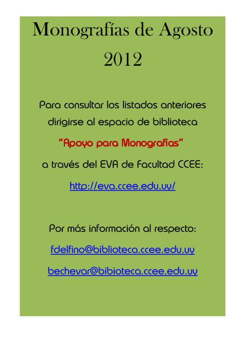 Monografías Agosto 2012