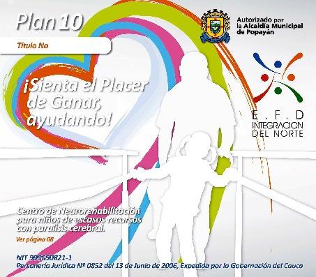 Bono de solidaridad No 10 Pro Centro de Apoyo a la discapacidad