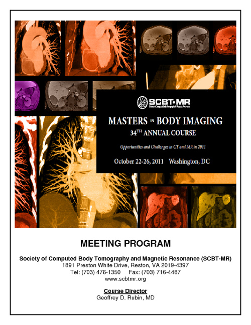 SCBT-MR's 2011 Meeting Program