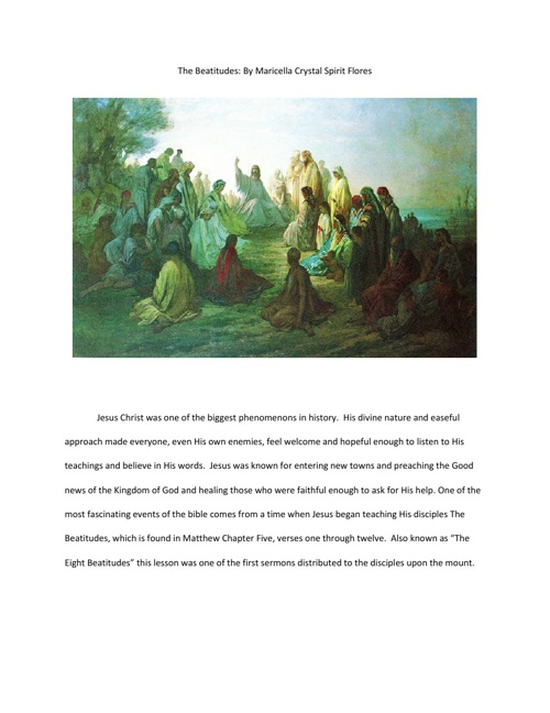 The Beatitudes - The Promises of Jesus