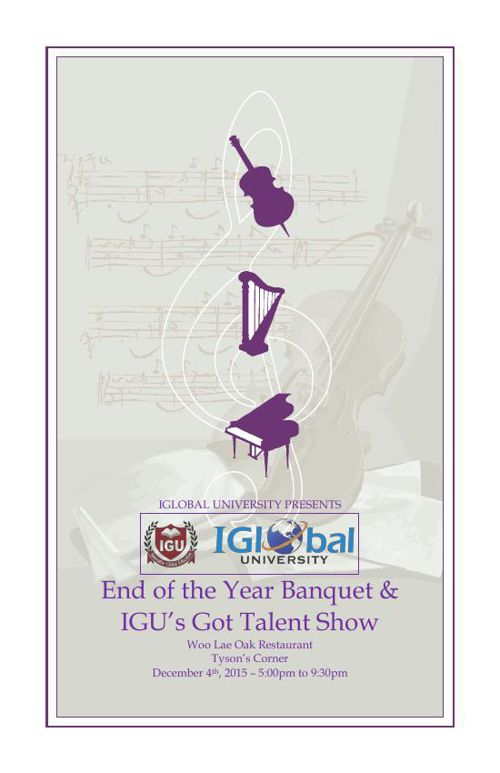 End of the Year Banquet and IGU's Got Talent Show