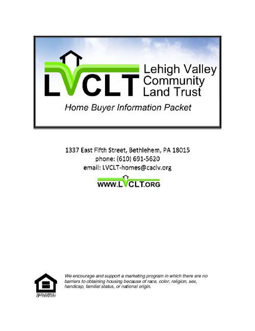 LVCLT Home Buyer Guide