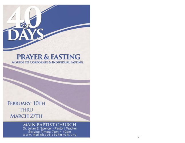 2016 MBC 40 Day Fasting Guide English