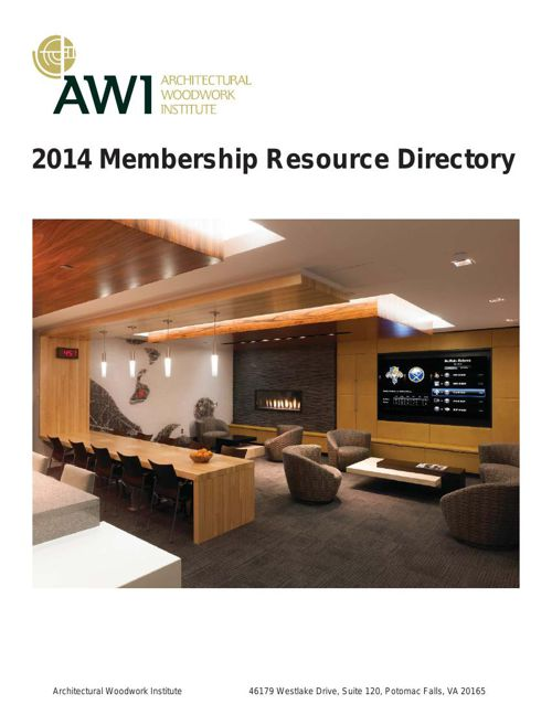 2014 AWI Member Resource Directory