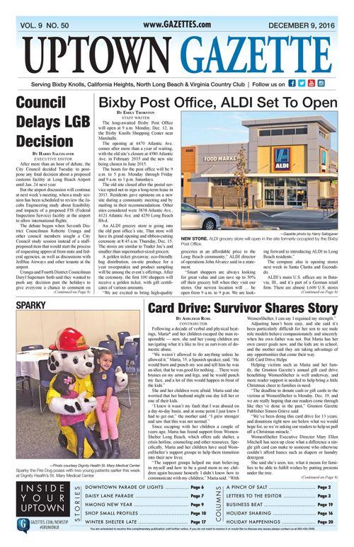 Uptown Gazette  |  December 9, 2016