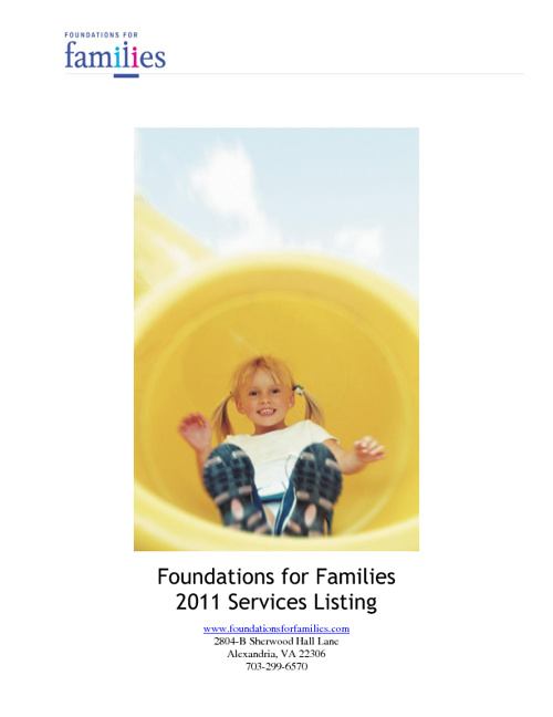 Foundations for Families List of Training 2011