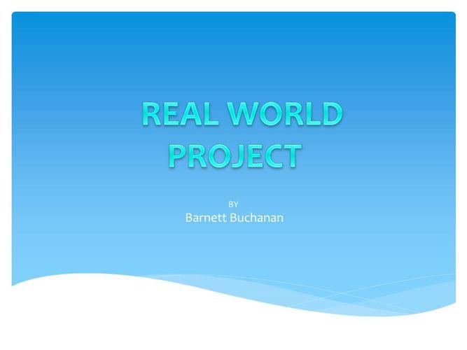 real world project final Barnett