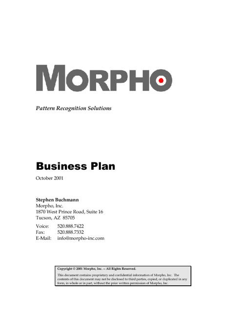 Morpho Business Plan