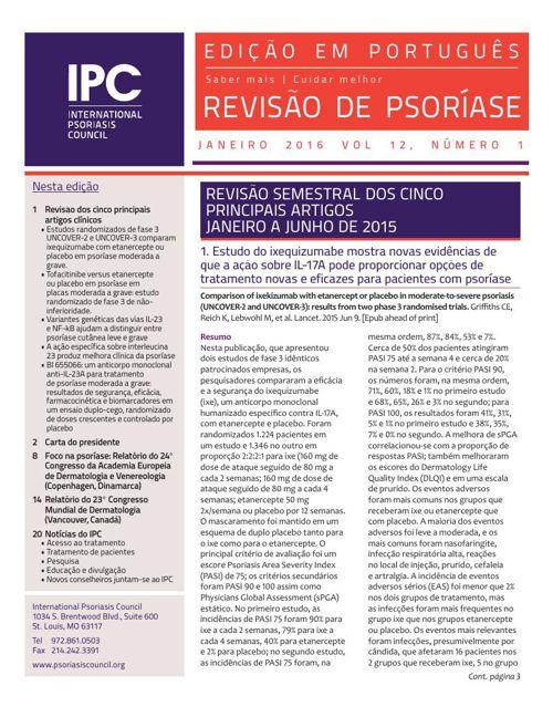 Revisão de Psoríase do IPC Janeiro 2016