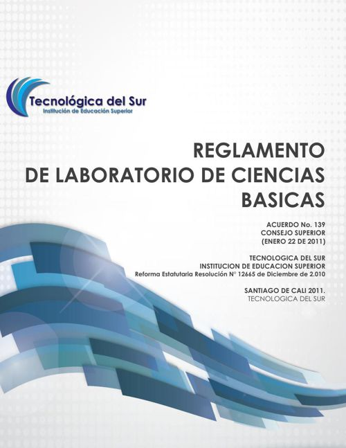REGLAMENTO DE LABORATORIO DE CIENCIAS BASICAS