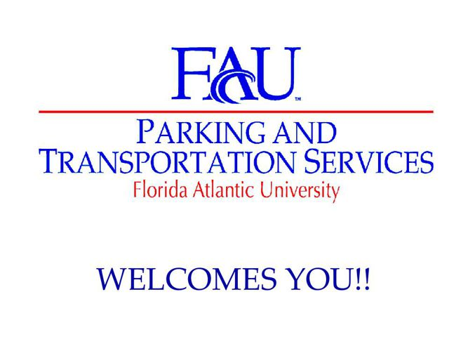 Parking student orientation 2014