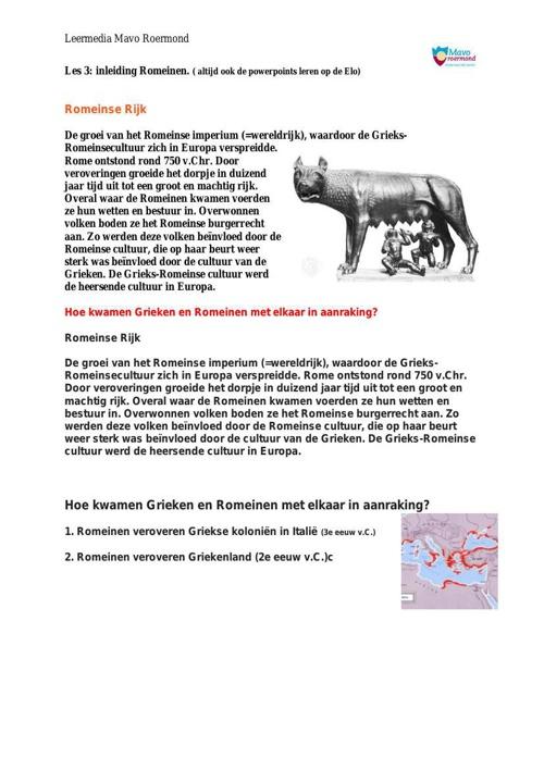Romeinen Les 3t-m4