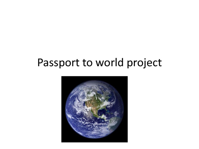 Passport to world project