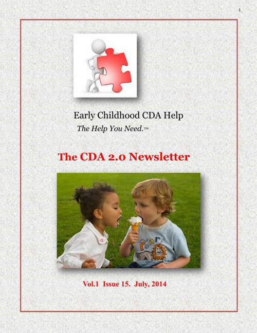 CDA  2.0 July Newsletter