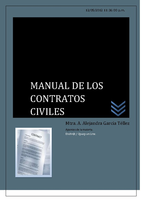 Manual de Contratos Civiles