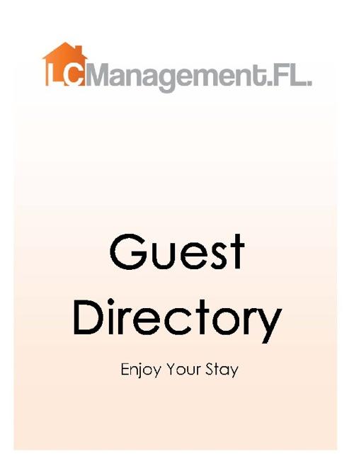L.C.Managment.FL. Guest Book