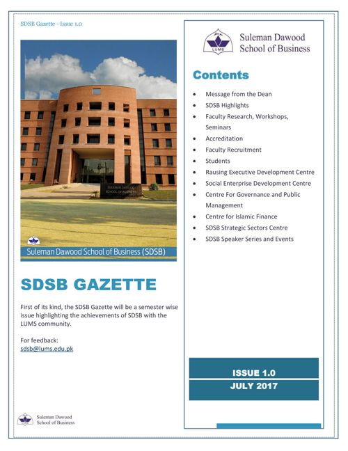 SDSB Gazette - July 2017 (circulated)
