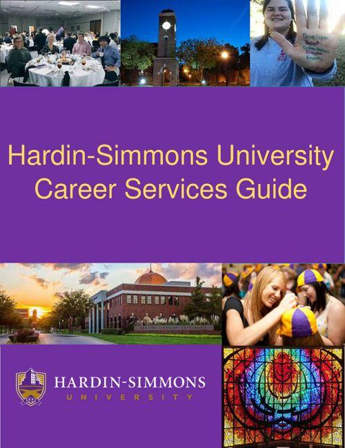 Hardin-Simmons University Career Servics Guide