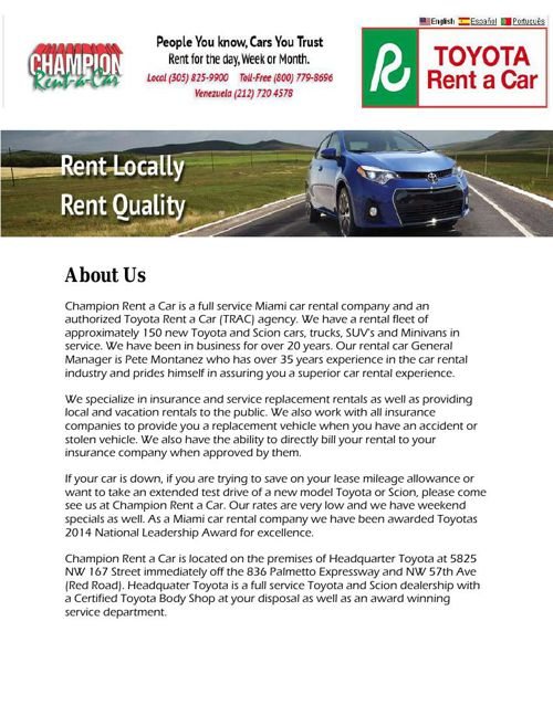 Car Rental Miami