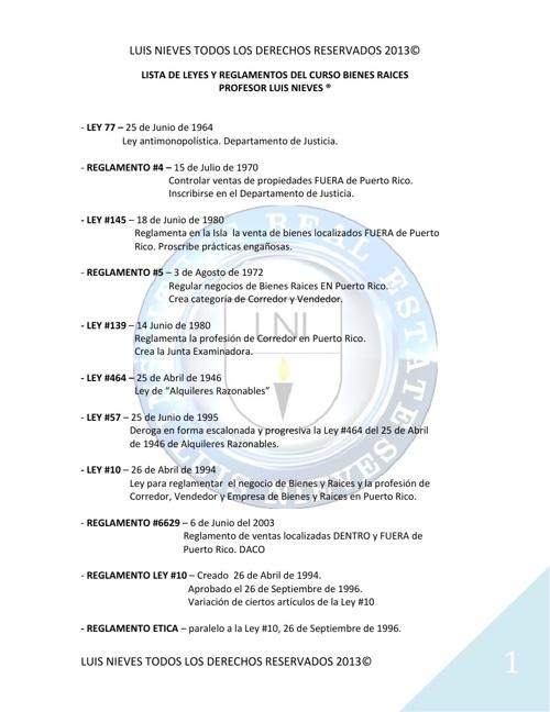 lista leyes y reglamentos curso br lni 2013