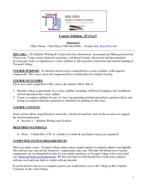 Flip Syllabus Sample