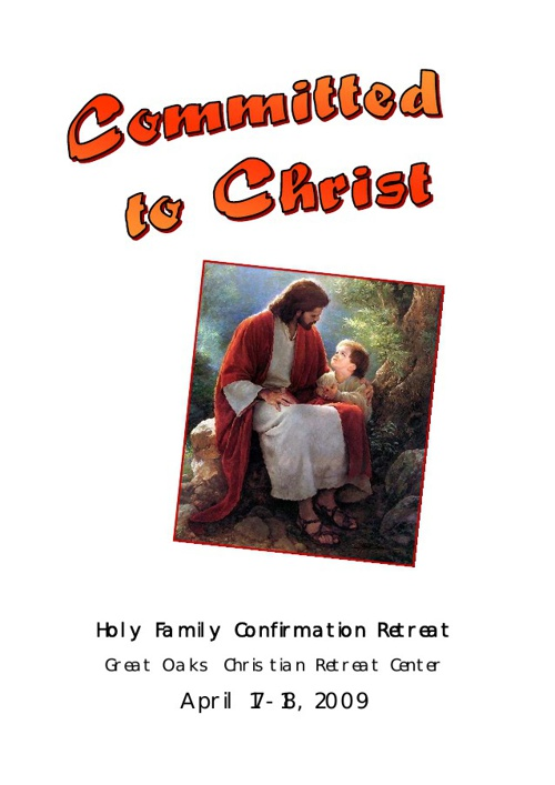Confirmation Retreat Journal