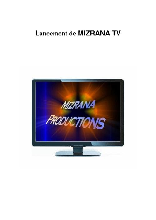 Lancement de Mizrana TV