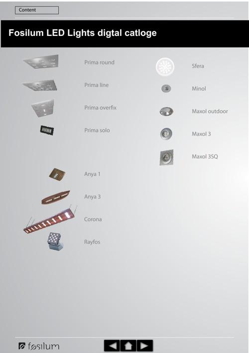 Fosilum LED lights digital cataloge