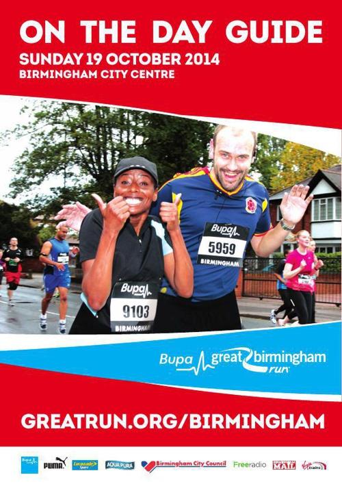 Bupa Great Birmingham Run 2014 - On The Day Guide