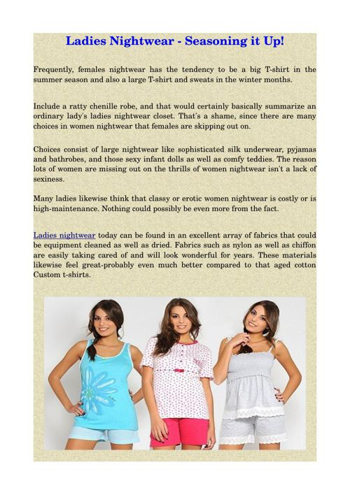 Ladies Nightwear - Seasoning it Up!