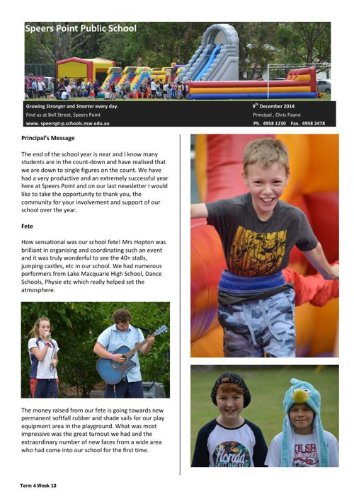 Term 4 Week 10 Newsletter