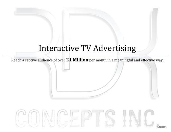 Interactive TV Advertising