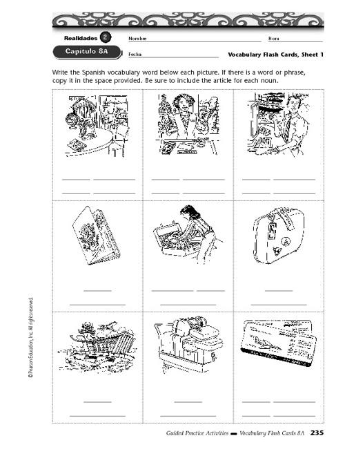 español 3 - capítulo 8A