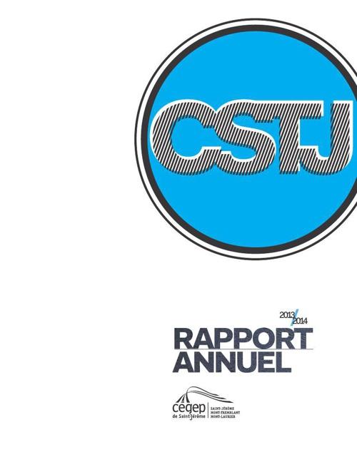 CSTJ - Rapport annuel 2013-2014