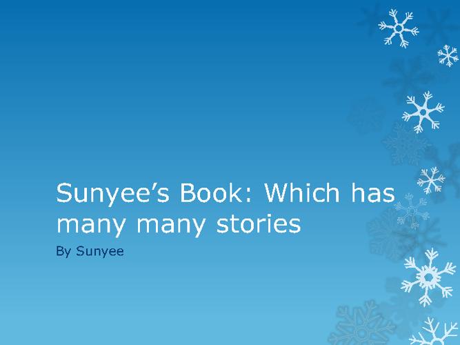 sunyees storybook