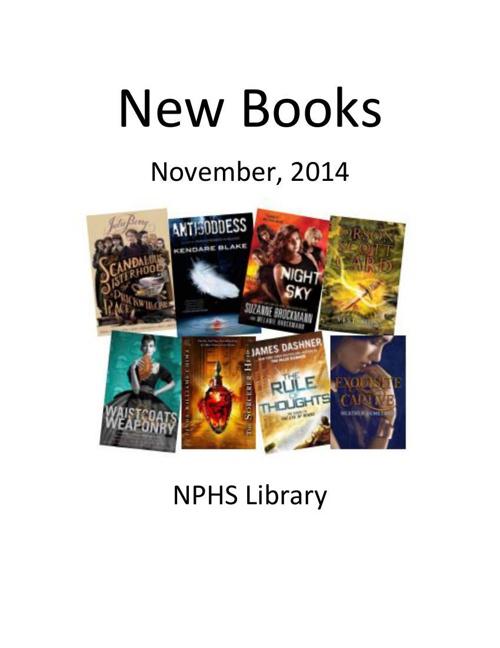 New Books November 2014
