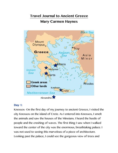 Travel Journal through Ancient Greece