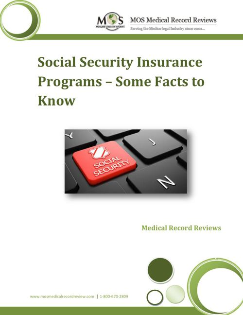 Social Security Insurance Programs – Some Facts to Know