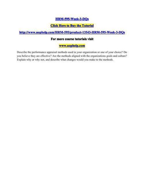 HRM-595-Week-3-DQs