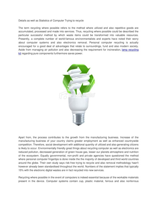 lamp recycling kit