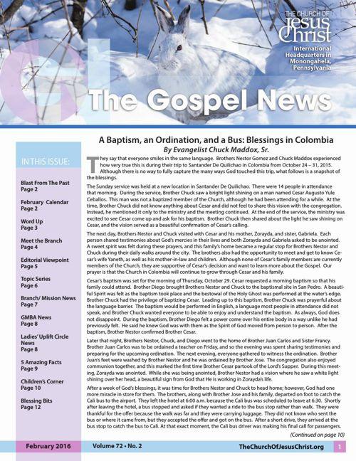 Gospel News February 2016