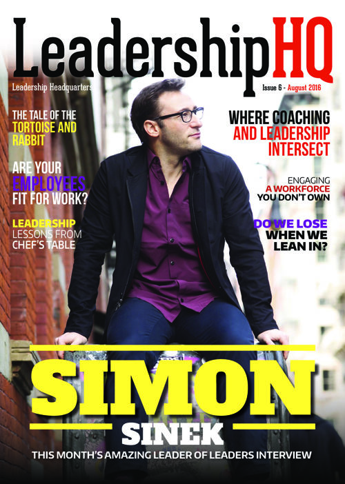 LeadershipHQ August Magazine Featuring Simon Sinek!