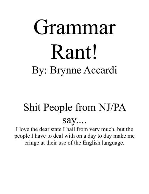Grammar Rant