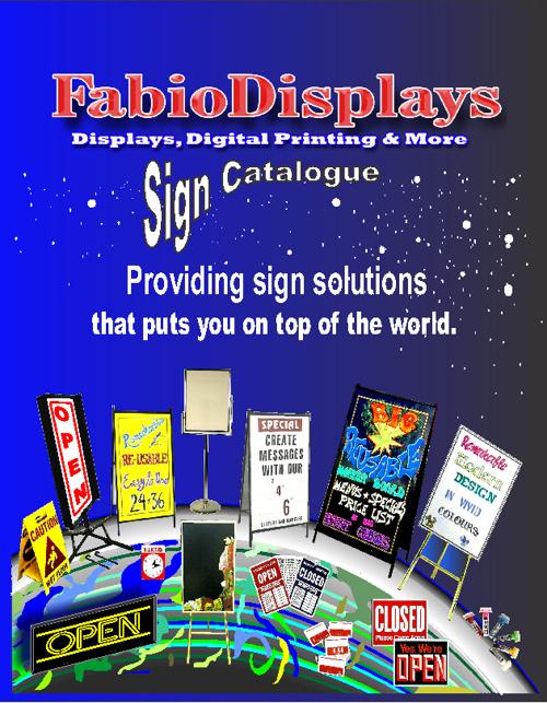 FabioDisplays Sign Catalogue