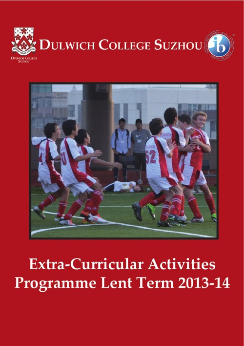 DCSZ Extra-Curricular Activities Lent Term 2014