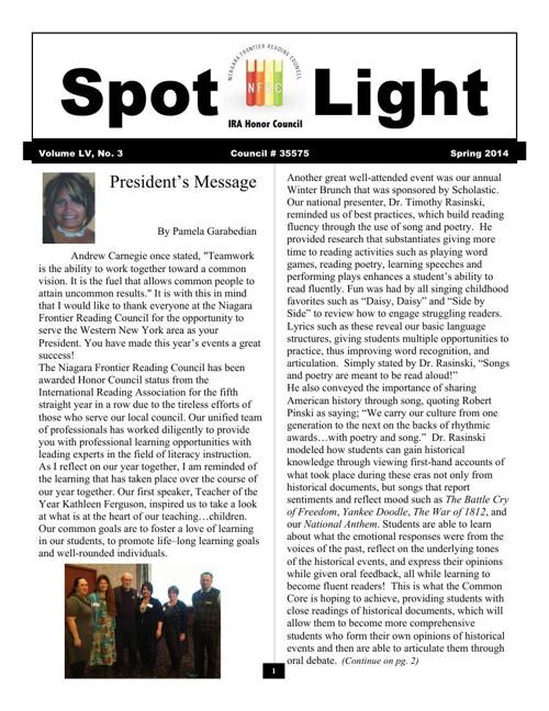 Spotlight Spring 2014