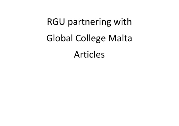 Global College Malta in the news