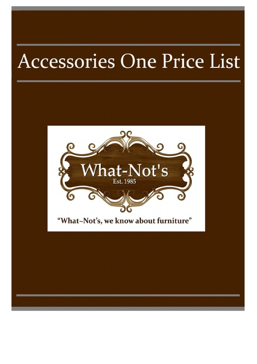 Accessories One Price List