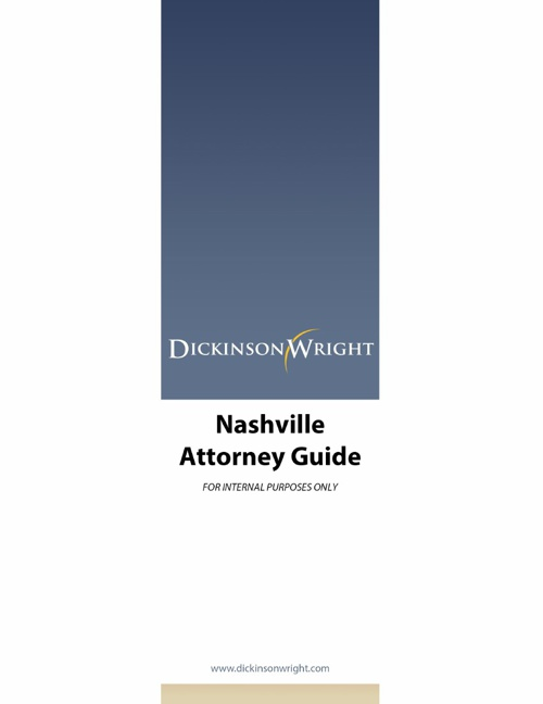 Nashville Attorney Booklet
